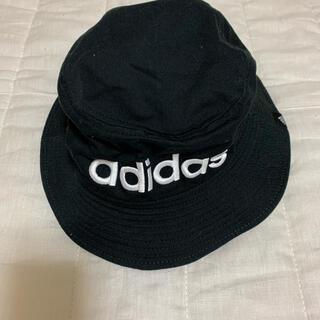 アディダス(adidas)のadidas 帽子 ハット 58㎝ 黒 (その他)