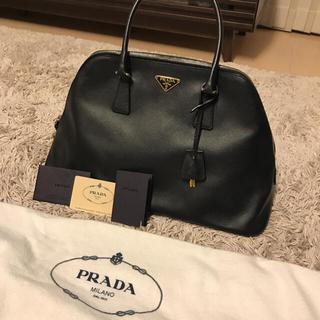 PRADA - PRADA プラダ ハンドバッグ レザー ブラック サフィアーノ