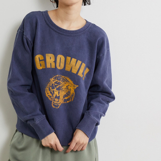 Spick and Span - 【mixta】GROWL!スウェット ネイビー S