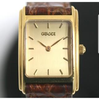 グッチ(Gucci)の【GUCCI】グッチ 715 L K18YG クォーツ レディース 腕時計(腕時計)