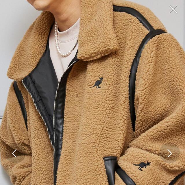 KANGOL(カンゴール)のKANGOL オーバーサイズ パイピング ボアブルゾン ボアジャケット B-3 メンズのジャケット/アウター(ブルゾン)の商品写真