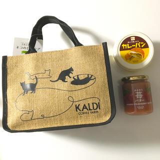 カルディ(KALDI)のカルディ 猫の日バッグ🐈⬛カレー、あまおう苺バター(菓子/デザート)