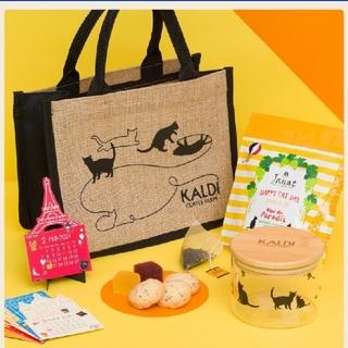 カルディ(KALDI)のKALDI 猫の日バック&カレンダーのみ(トートバッグ)