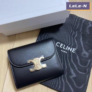 セリーヌ(celine)の大人気♪CELINE<新品レシート付き> トリオンフ スモール財布 ブラック(財布)