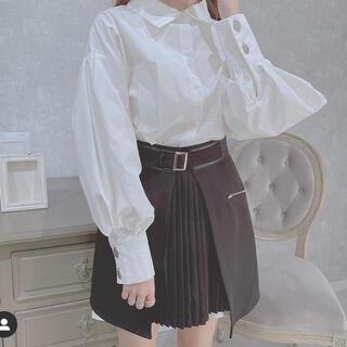 アルシーヴ(archives)のシャツOP×プリーツオーバースカートSET(ミニスカート)