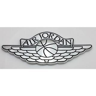 Air Jordan エア ジョーダン アルミ カー ステッカー 銀黑 当日発送