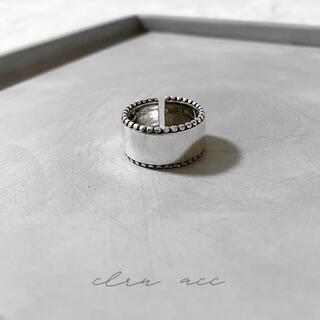 フィリップオーディベール(Philippe Audibert)の〝再販〟silver925 ライン プレート シルバーリング (リング(指輪))