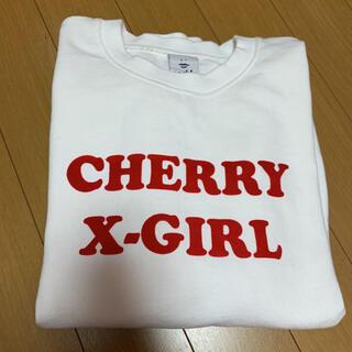 エックスガール(X-girl)の完売品 xgirl cherry baby コラボ スウェット stussy(トレーナー/スウェット)