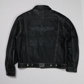 ◉● 90年代 ボーイロンドン レザージャケット ライダース アメリカ製 ■