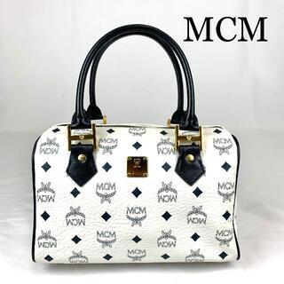 MCM - MCM レザー ロゴ金具 ハンドバッグ