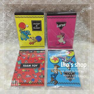 トイストーリー(トイ・ストーリー)のDisney♡ PIXAR TOY STORY A6メモ 4冊セット(ノート/メモ帳/ふせん)