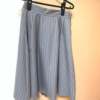 AFRICATARO - 膝丈スカート★グレーストライプ