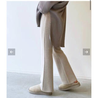 L'Appartement DEUXIEME CLASSE - アパルトモン♡ Flare Knit Pants