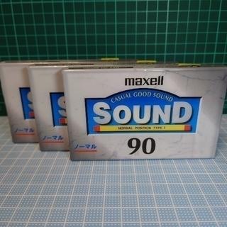maxell - 【新品】maxellカセットテープ90分・3本(NORMALポジション)