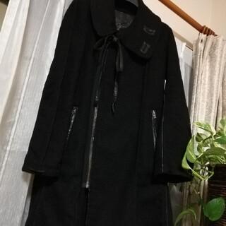 LE CIEL BLEU - お値下げしました!美品アンシャントマン アシンメトリー 綿デザインコート レザー