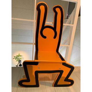 VIRAC キースヘリングチェア 木製 オレンジ made in France(その他)