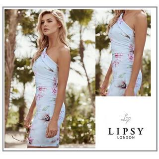 リプシー(Lipsy)の超美品!新品未使用☆大人気フラワーワンショルダードレス(ミディアムドレス)