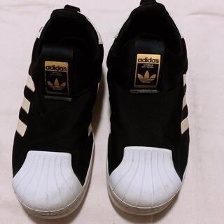 アディダス(adidas)のタカティン様専用♡ adidasスリッポン 黒 21cm (スリッポン)