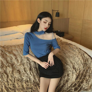 ゴゴシング(GOGOSING)の韓国 オフショルTシャツ(Tシャツ(半袖/袖なし))