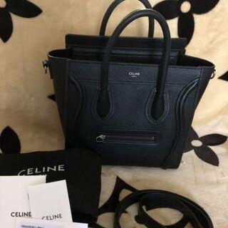 celine - CELINE セリーヌ ラゲージナノ ブラック
