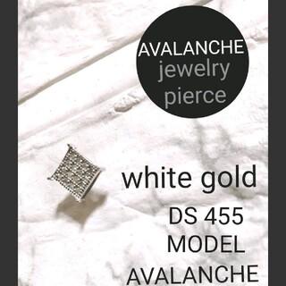 アヴァランチ(AVALANCHE)のAVALANCHE Jewelry pierce【ひし形】white gold(ピアス(片耳用))