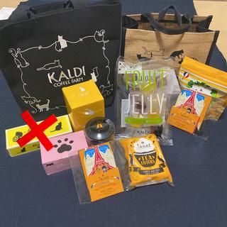 カルディ(KALDI)の未開封 KALDI ネコの日バック・プレミアムバック2点セット(トートバッグ)