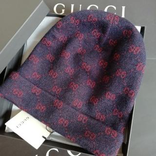 グッチ(Gucci)の正規店購入 グッチ GG  アルパカウール ニットキャップ 新品(ニット帽/ビーニー)