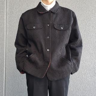 ニードルス(Needles)のヴィンテージ ワークジャケット ジャガード ゴブラン ブラック(ブルゾン)