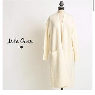ミラオーウェン(Mila Owen)のモヘア混ニットロングカーディガン(カーディガン)