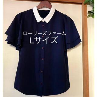 LOWRYS FARM - レディース ローリーズファーム Lサイズ 襟付き 半袖シャツ ブラウス