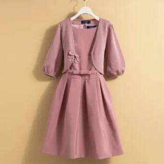 M'S GRACY - エムズグレイシー♡上品ピンク 定番フォルムワンピース 42
