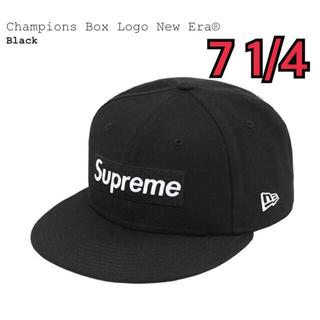 シュプリーム(Supreme)のChampions Box Logo New Era Black 7 1/4(キャップ)