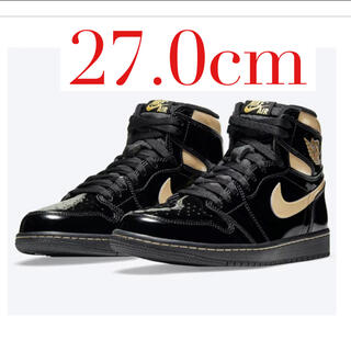 ナイキ(NIKE)のAIR JORDAN 1 High OG Black Metallic Gold(スニーカー)