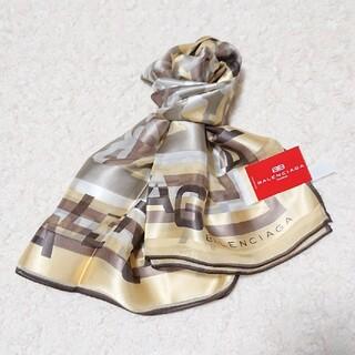 バレンシアガ(Balenciaga)の《未使用》BALENCIAGA シルク100% 88㎝×88㎝ スカーフ(バンダナ/スカーフ)