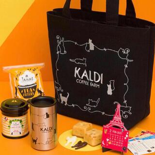 カルディ(KALDI)のKALDI カルディ ネコの日バッグ【抜き取りなし】(トートバッグ)