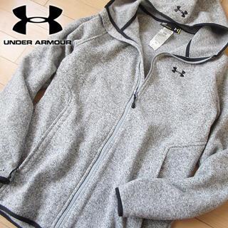 UNDER ARMOUR - 超美品 S アンダーアーマー メンズ パーカージャケット グレー