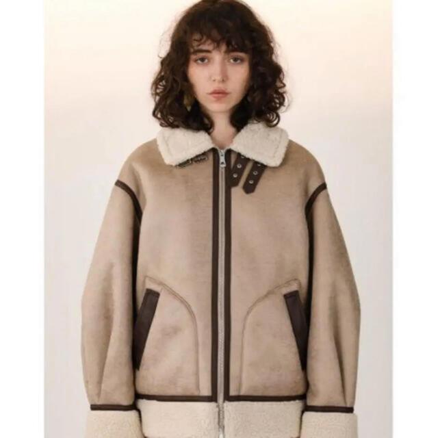 SLY(スライ)の【本日まで!】OVER SIZE B-3  ボアブルゾン レディースのジャケット/アウター(ムートンコート)の商品写真