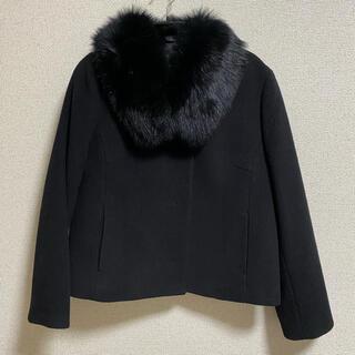 ジャスグリッティー(JUSGLITTY)のジャスグリッティー ファー付2wayショートコート 黒 Mサイズ(毛皮/ファーコート)