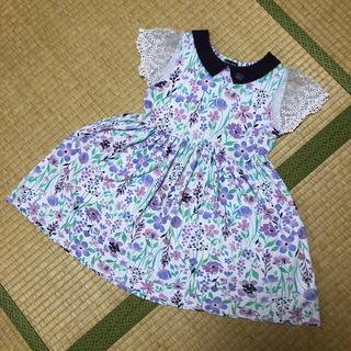 ANNA SUI mini - アナスイミニ 花柄ワンピース サイズ130