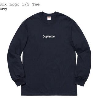 Supreme - Supreme Box Logo l/s Tee  Navy  L  新品