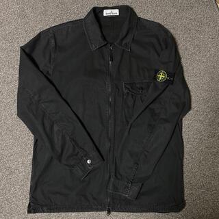 ストーンアイランド(STONE ISLAND)のXXL)20SSストーンアイランド ガーメントダイ オーバーシャツ ブラック(シャツ)
