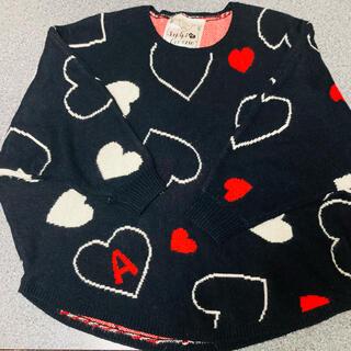 repipi armario - レピピ ハート かわいい セーター ドレープ袖