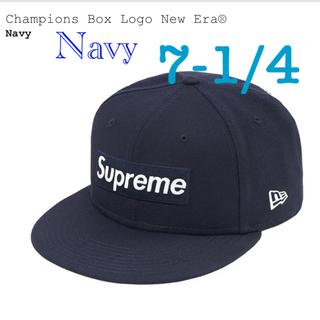 シュプリーム(Supreme)のSupreme champions box logo new era ネイビー(キャップ)