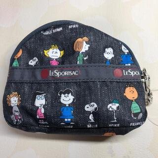 LeSportsac - レスポートサック コインケースポーチ  スヌーピー電車カードケース