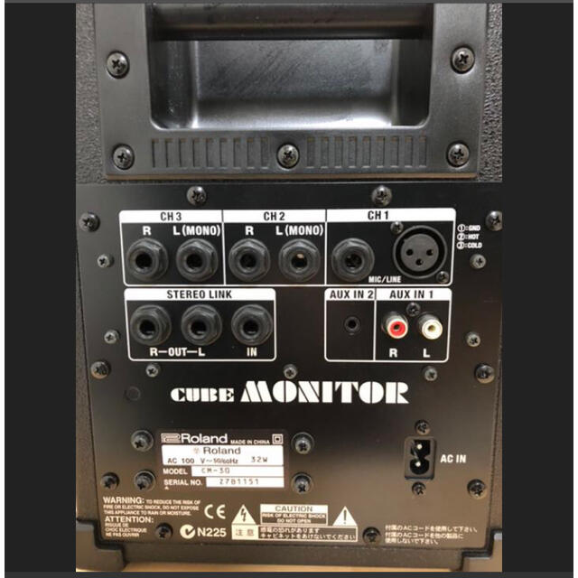 Roland(ローランド)のRoland ローランド Cube Monitor 30W CM-30 アンプ 楽器のレコーディング/PA機器(パワーアンプ)の商品写真