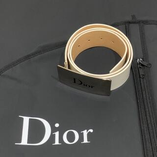 Christian Dior - CHRISTIAN DIOR WHITE LEATHER BELT