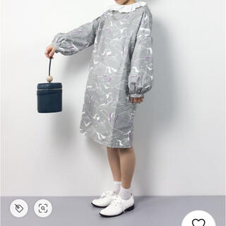 merlot - ペンギン ワンピース グレー 長袖