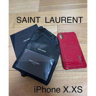 サンローラン(Saint Laurent)の中古品 YSL iPhone ケース(iPhoneケース)