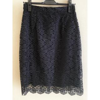 UNIQLO - UNIQLO レースタイトスカート 黒 Mサイズ