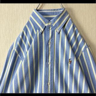 Ralph Lauren - 正規品 ラルフローレン BDシャツ ブルー ストライプ マルチポニー XS